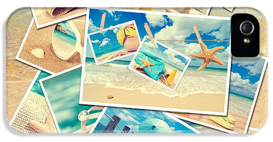 Sand IPhone 5 Case featuring the photograph Summer Postcards by Amanda Elwell