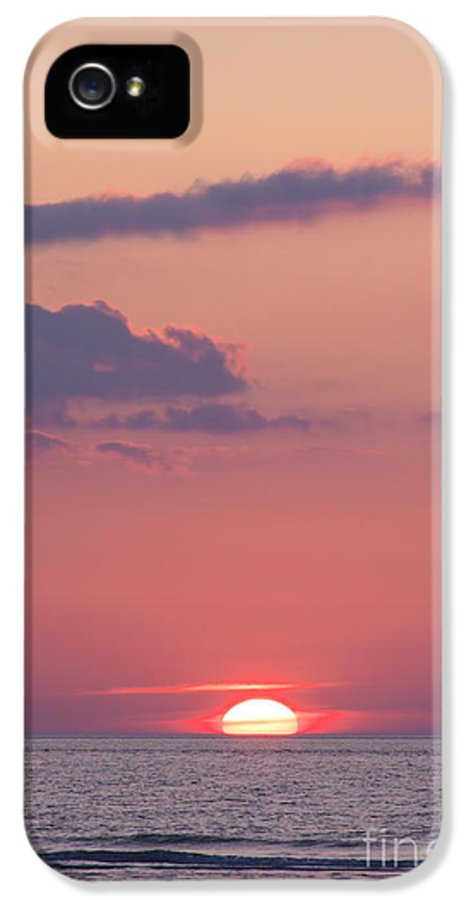 Buesum IPhone 5 Case featuring the photograph Sunset by Angela Doelling AD DESIGN Photo and PhotoArt