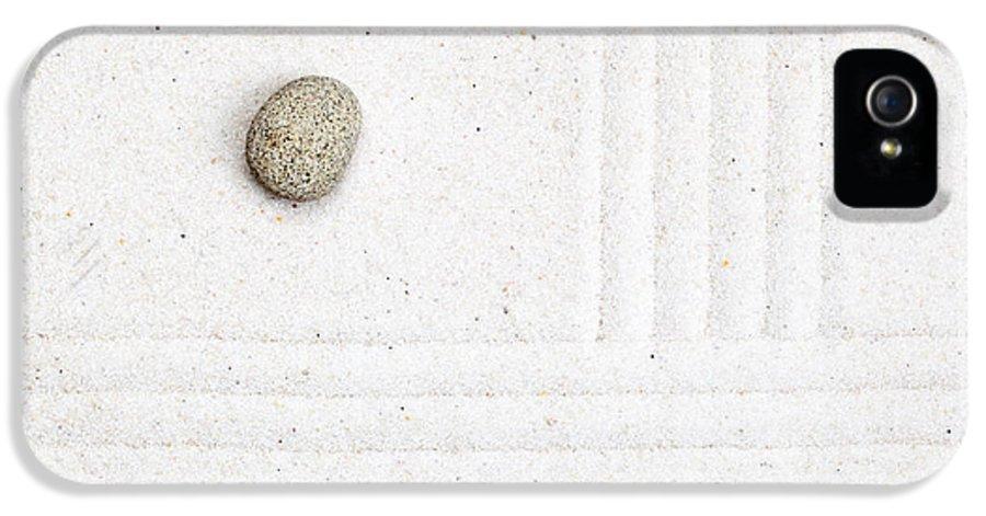 Garden IPhone 5 Case featuring the sculpture Zen Garden by Shawn Hempel