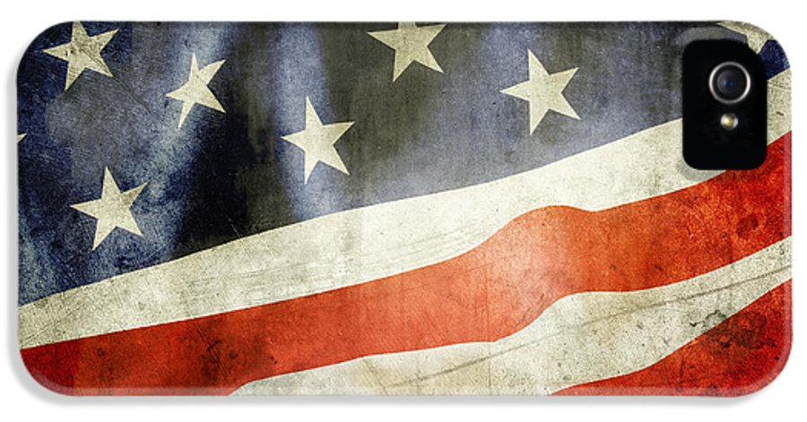 Flag IPhone 5 Case featuring the photograph American Flag by Les Cunliffe
