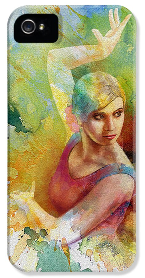 Ballet Dancer IPhone 5 Case featuring the painting Ballet Dancer by Corporate Art Task Force