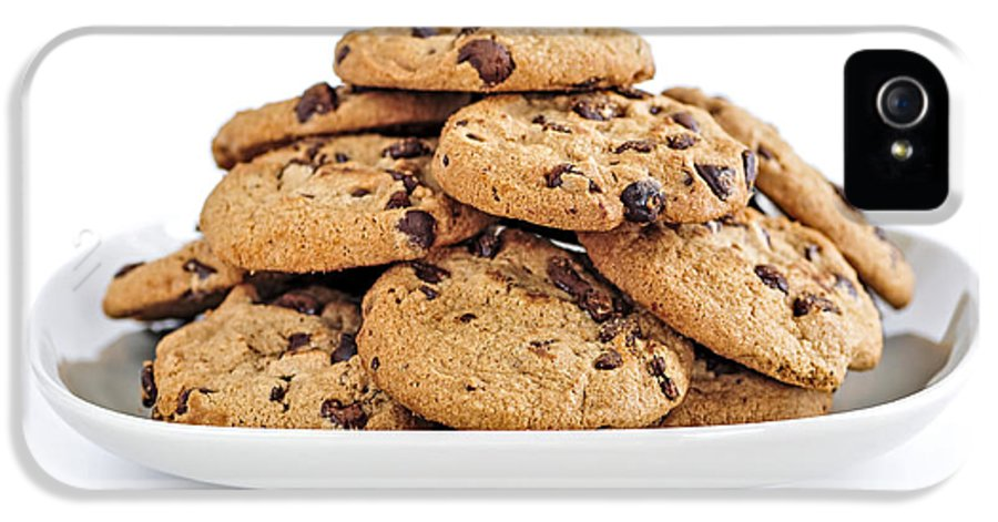 Cookies IPhone 5 Case featuring the photograph Chocolate Chip Cookies by Elena Elisseeva