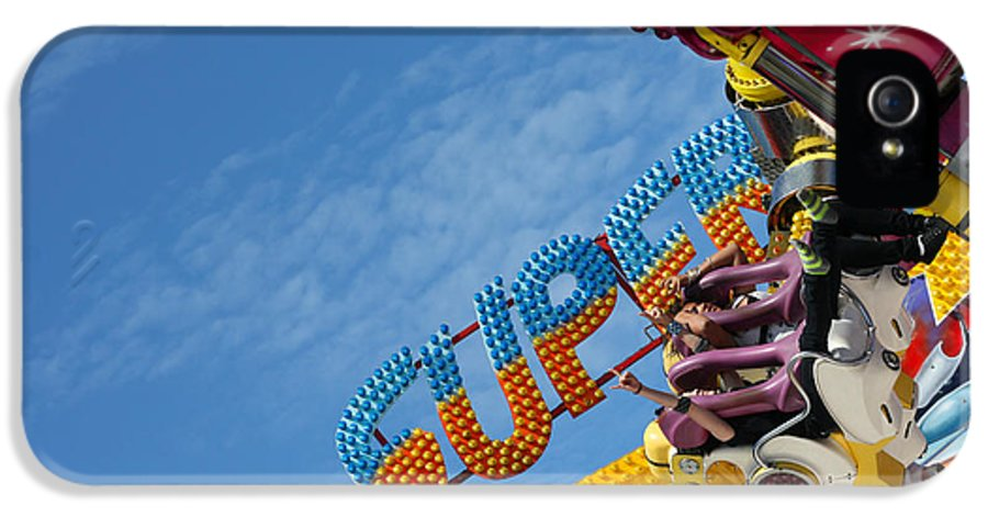 Activity IPhone 5 Case featuring the photograph Colorful Fairground Ride by Ken Biggs