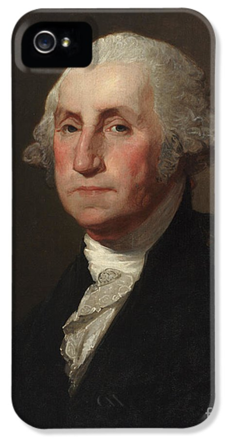 The President IPhone 5 Case featuring the painting George Washington by Gilbert Stuart