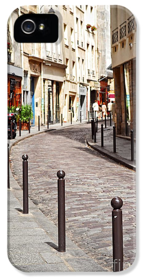 Street IPhone 5 Case featuring the photograph Paris Street by Elena Elisseeva
