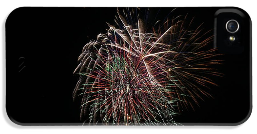 Fireworks IPhone 5 Case featuring the photograph 4th Of July Fireworks by Alan Hutchins