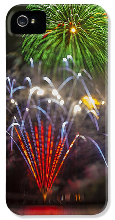 Fireworks IPhone 5 Case featuring the photograph 4th Of July Through The Lens Baby by Scott Campbell
