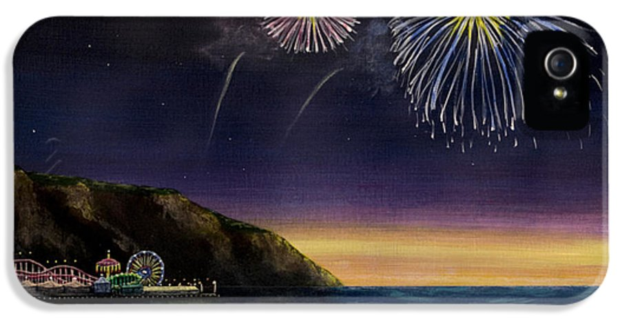 Amusement Pier IPhone 5 Case featuring the painting 4th On The Shore by Jack Malloch