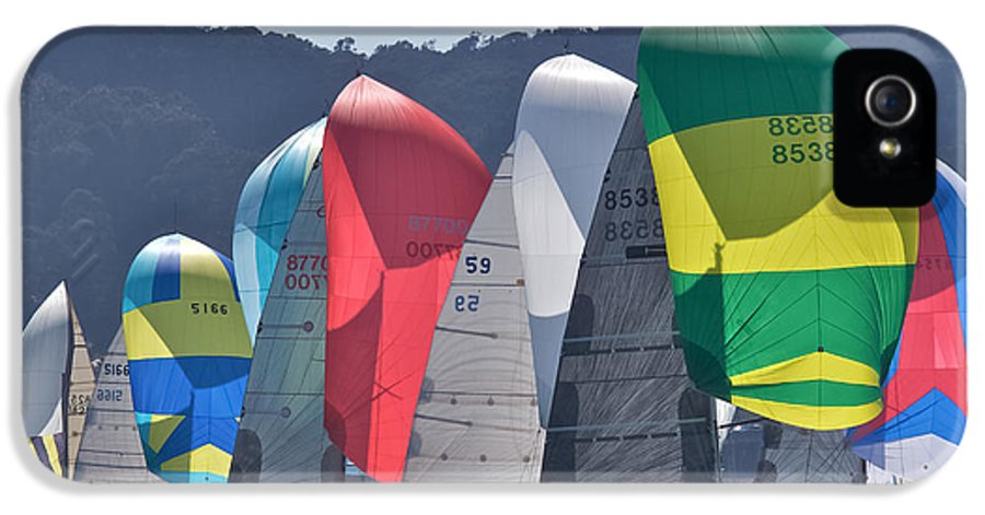 San Francisco IPhone 5 Case featuring the photograph Bay Spinnakers by Steven Lapkin