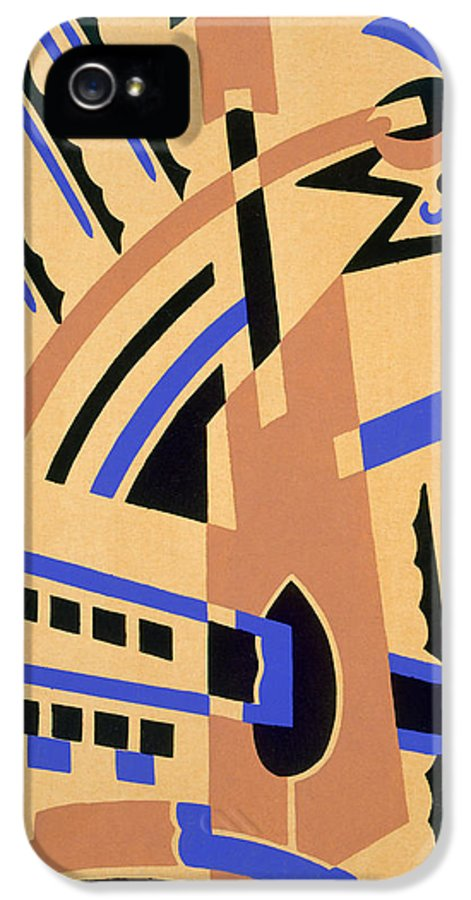 Constructivist IPhone 5 Case featuring the painting Design From Nouvelles Compositions Decoratives by Serge Gladky