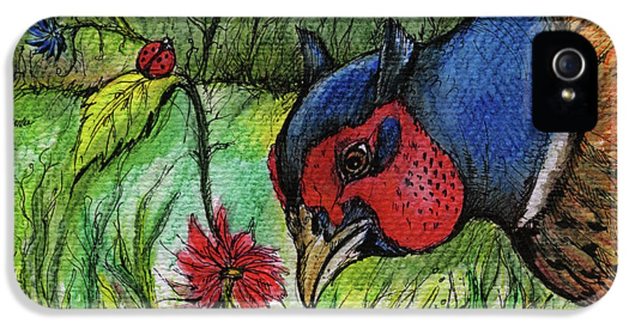 Garden IPhone 5 Case featuring the painting In My Magic Garden by Angel Tarantella