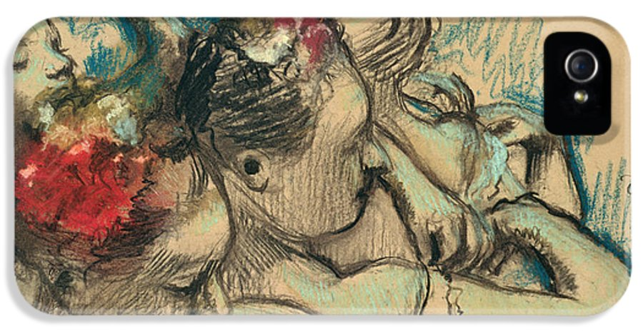 Impressionist IPhone 5 Case featuring the drawing Dancers by Edgar Degas