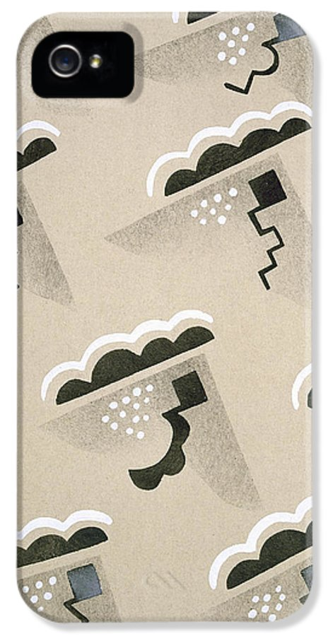 Design IPhone 5 Case featuring the painting Design From Nouvelles Compositions Decoratives by Serge Gladky