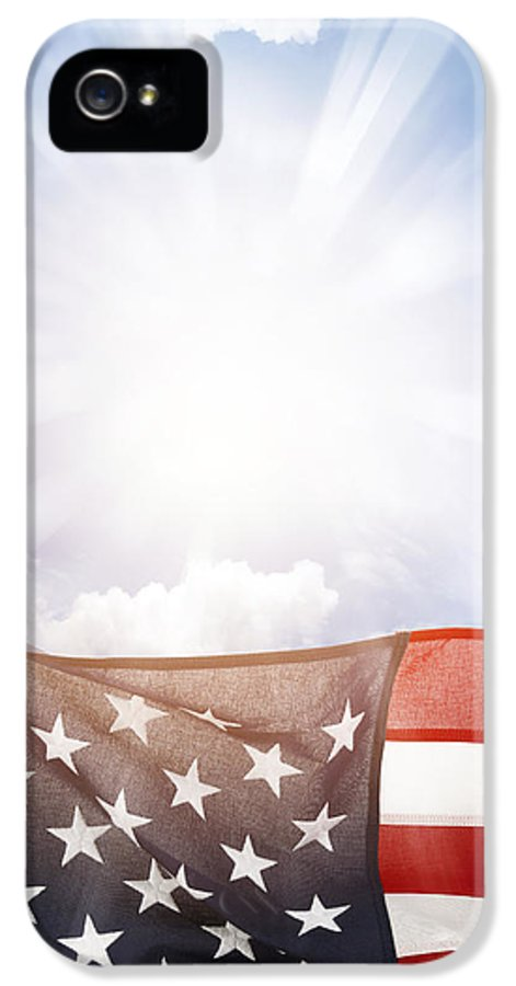 American IPhone 5 Case featuring the photograph American Flag by Les Cunliffe