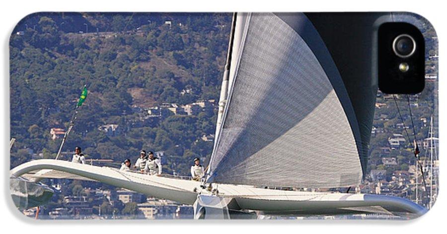 Trimaran IPhone 5 Case featuring the photograph San Francisco Sailing by Steven Lapkin