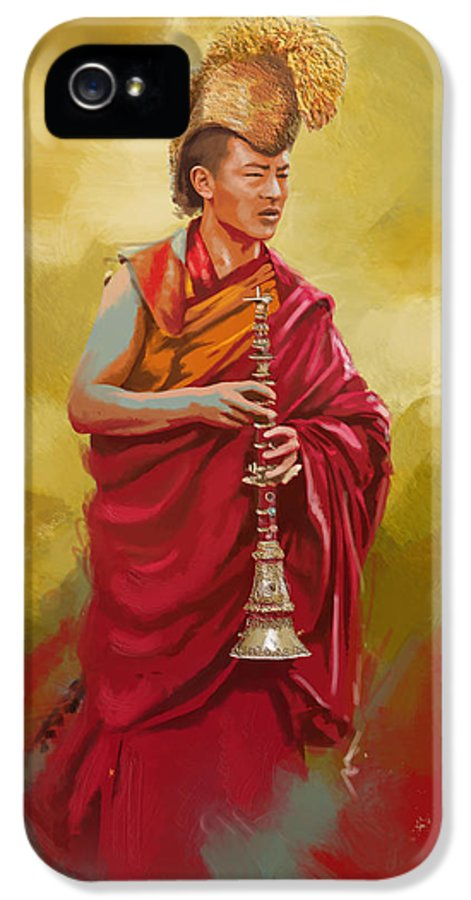 Buddhism IPhone 5 Case featuring the painting South Asian Art by Corporate Art Task Force