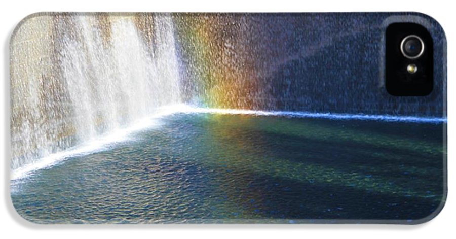 Rainbow IPhone 5 Case featuring the photograph 9-11 Memorial by Dan Sproul