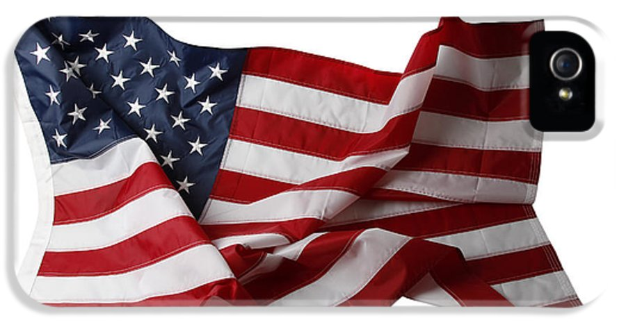 American Flag IPhone 5 Case featuring the photograph American Flag by Les Cunliffe