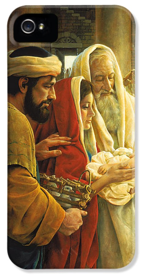 Jesus IPhone 5 Case featuring the painting A Light To The Gentiles by Greg Olsen