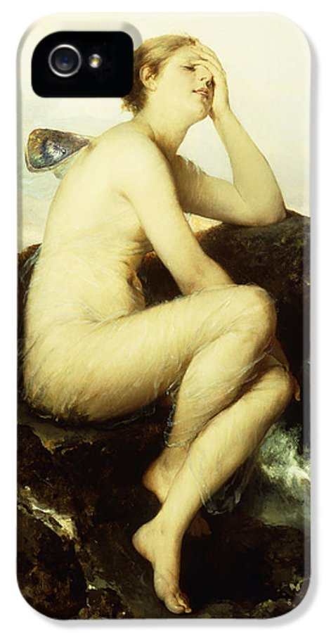 German IPhone 5 Case featuring the painting A Nymph By The Sea by Wilhelm Kray