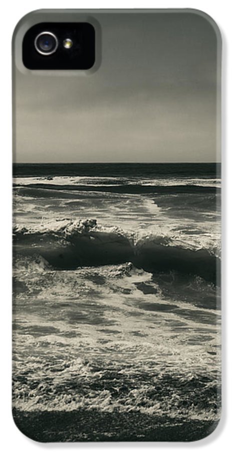Manchester State Beach IPhone 5 Case featuring the photograph A Permanent Sadness by Laurie Search