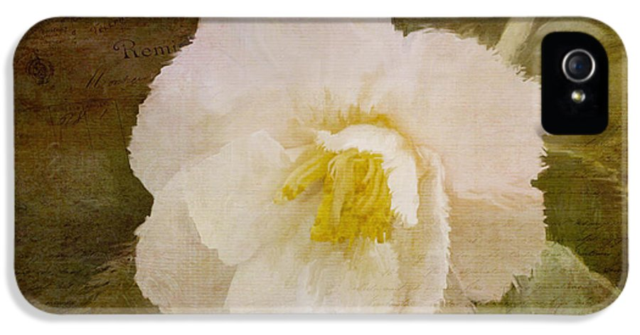 Jordan Blackstone IPhone 5 Case featuring the painting A Place Of Peace - Vintage Art by Jordan Blackstone
