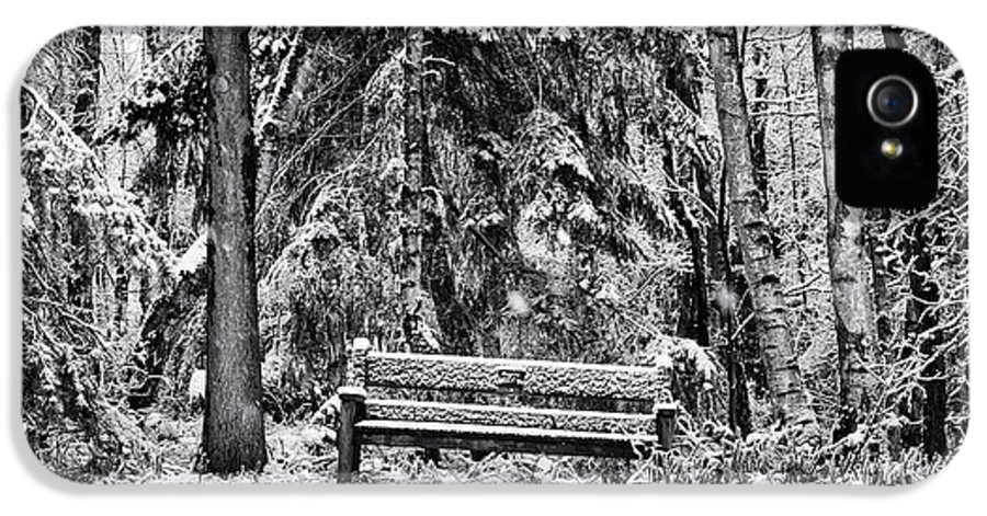 Snow IPhone 5 Case featuring the photograph A Quiet Place by Tim Gainey