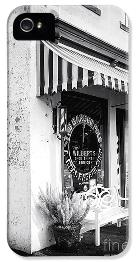 A Real Barber Shop IPhone 5 Case featuring the photograph A Real Barber Shop by John Rizzuto