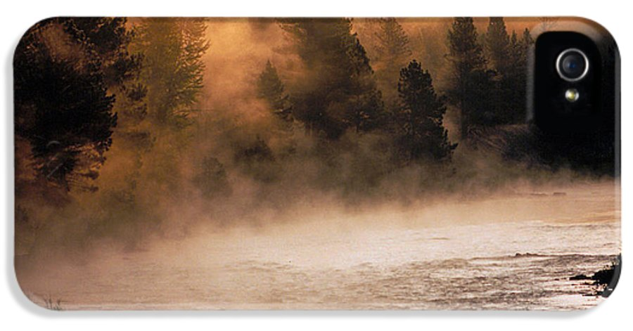 Big Blackfoot River IPhone 5 Case featuring the photograph A River Runs Through It by Thomas Schoeller