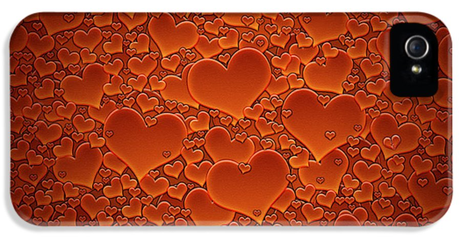 Sea IPhone 5 Case featuring the photograph A Sea Of Hearts by Gianfranco Weiss