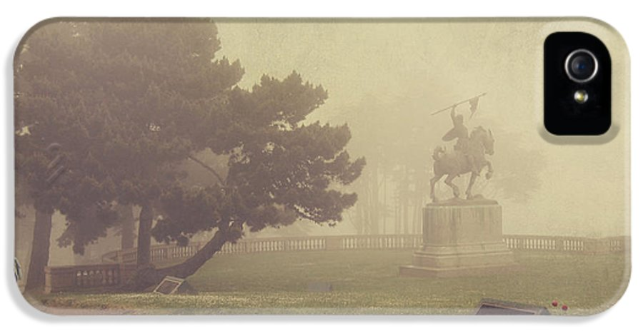 Fog IPhone 5 Case featuring the photograph A Walk In The Fog by Laurie Search