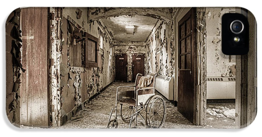 Abandoned IPhone 5 Case featuring the photograph Abandoned Asylums - What Has Become by Gary Heller