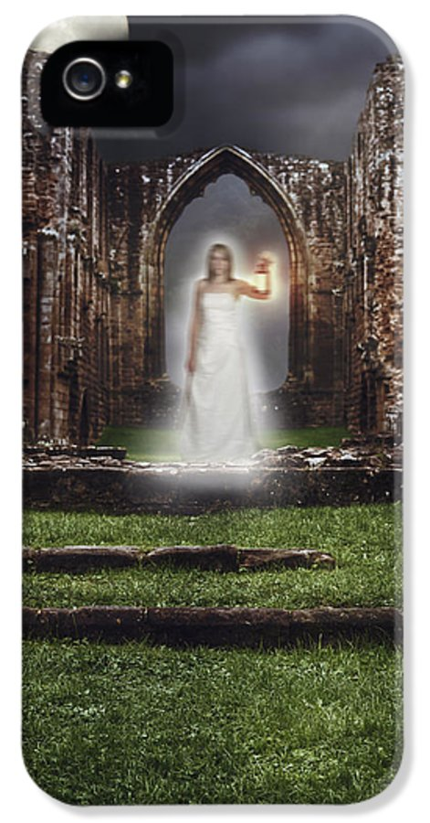 Ghost IPhone 5 Case featuring the photograph Abbey Ghost by Amanda Elwell