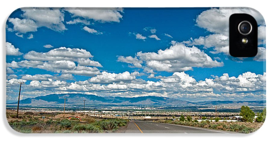 Landscape IPhone 5 Case featuring the photograph Abq From 9 Mile Hill by Don Durante Jr