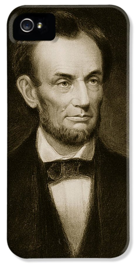 Lincoln IPhone 5 Case featuring the painting Abraham Lincoln by Francis Bicknell Carpenter