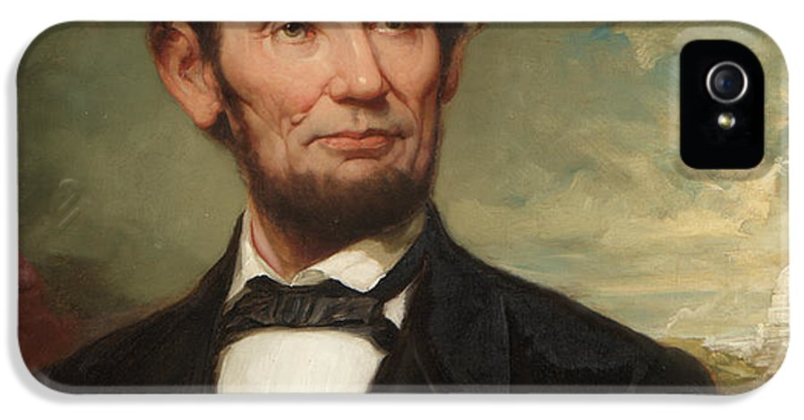 The President IPhone 5 Case featuring the painting Abraham Lincoln by George Henry Story