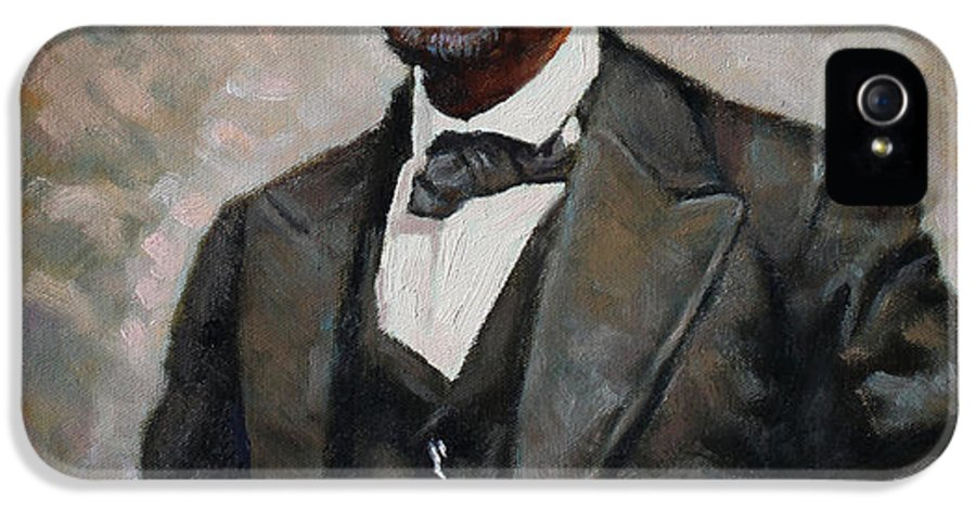 Abraham Lincoln IPhone 5 Case featuring the painting Abraham Lincoln by Ylli Haruni