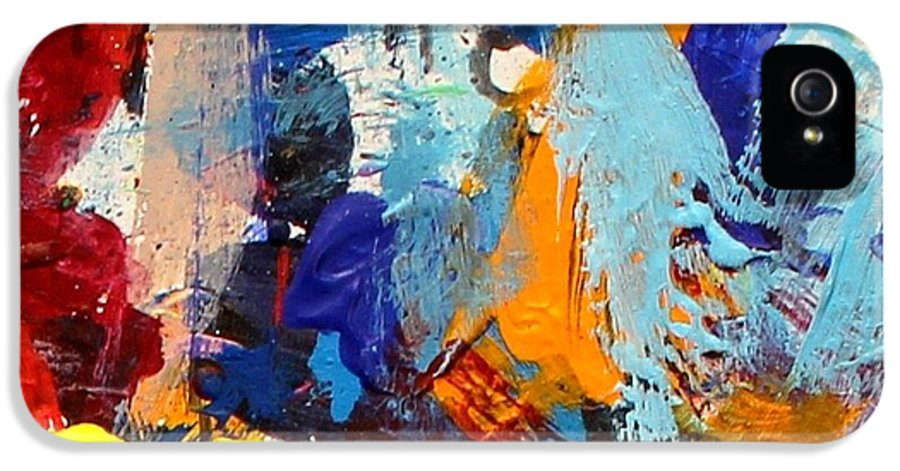 Abstract IPhone 5 Case featuring the painting Abstract 10 by John Nolan
