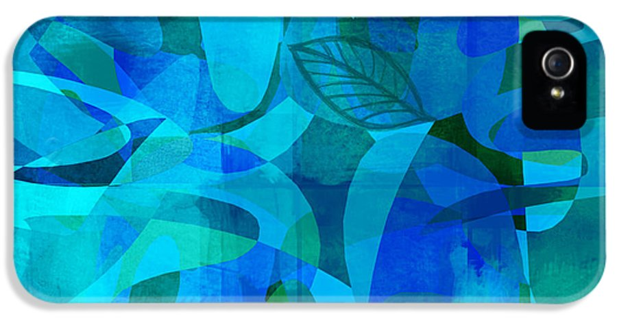 Abstract IPhone 5 Case featuring the digital art abstract - art- Blue for You by Ann Powell