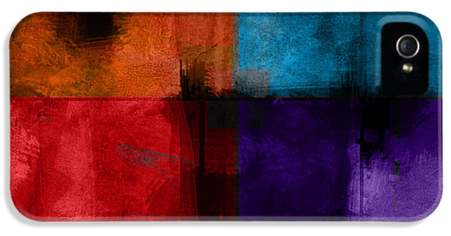 Abstract IPhone 5 Case featuring the digital art abstract - art- Color Block Square by Ann Powell