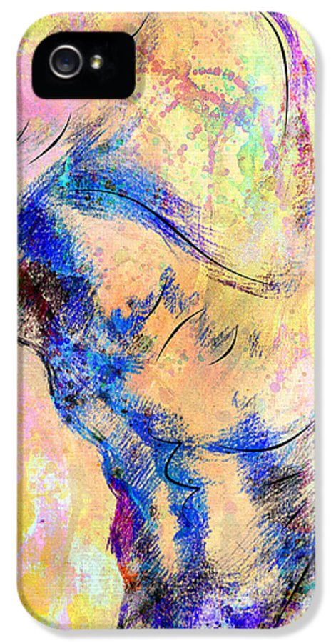 Bodybuilder IPhone 5 Case featuring the digital art Abstract Bod 6 by Mark Ashkenazi
