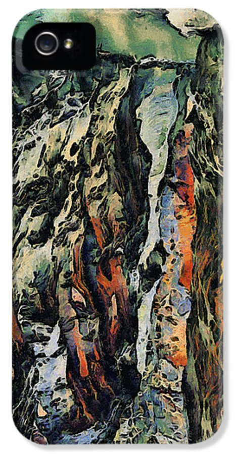 Abstract IPhone 5 Case featuring the painting Abstract by Dancin Artworks