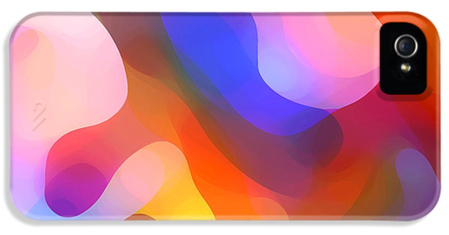 Abstract Art IPhone 5 / 5s Case featuring the painting Abstract Dappled Sunlight by Amy Vangsgard