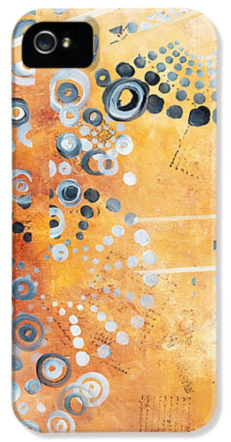 Art IPhone 5 Case featuring the painting Abstract Decorative Art Original Circles Trendy Painting By Madart Studios by Megan Duncanson