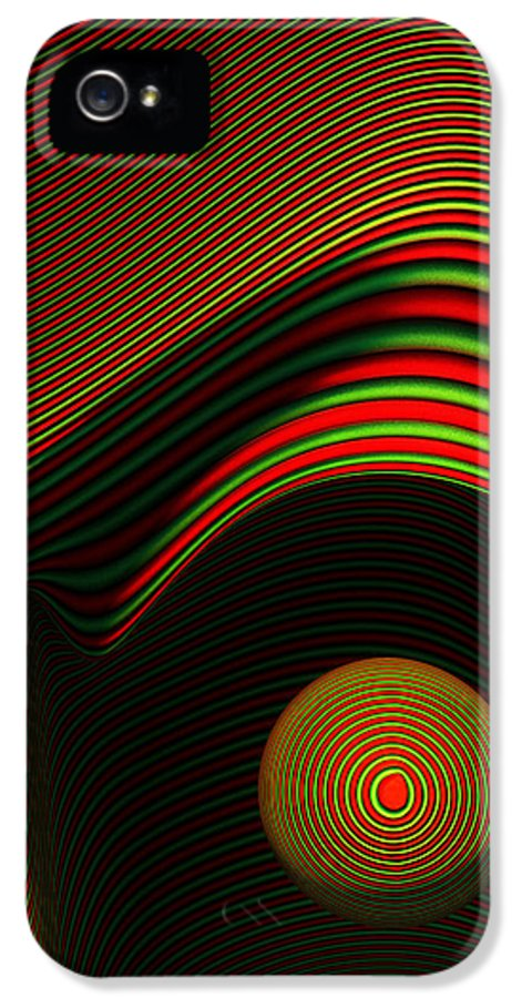 Eye IPhone 5 Case featuring the digital art Abstract Eye by Johan Swanepoel