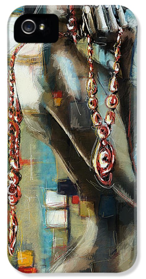 Abstract Art IPhone 5 Case featuring the painting Abstract Figure Work by Catf