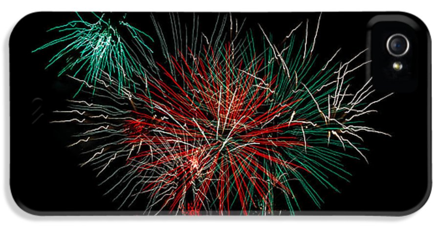 Fireworks IPhone 5 Case featuring the photograph Abstract Fireworks by Robert Bales