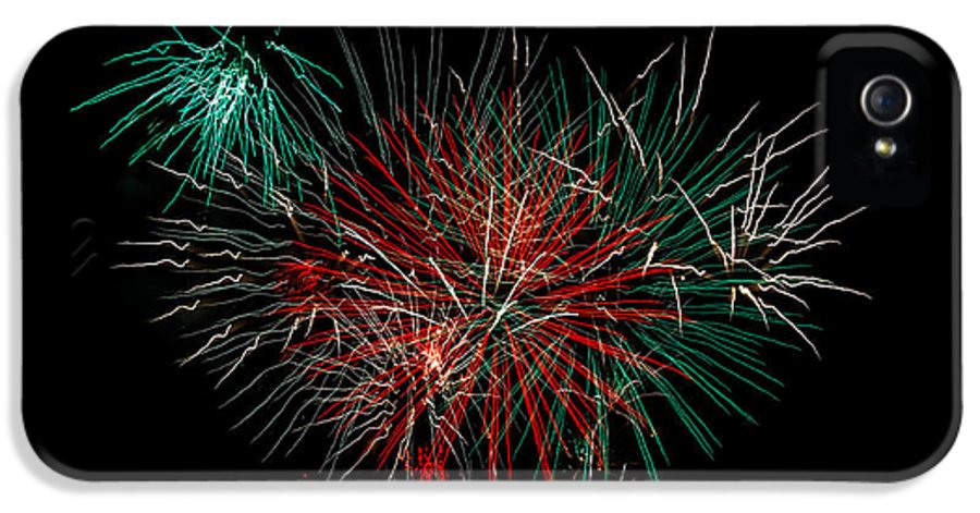 Fireworks IPhone 5 / 5s Case featuring the photograph Abstract Fireworks by Robert Bales