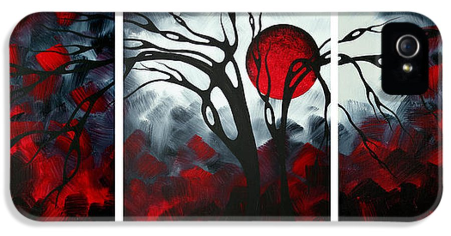 Abstract IPhone 5 Case featuring the painting Abstract Gothic Art Original Landscape Painting Imagine By Madart by Megan Duncanson