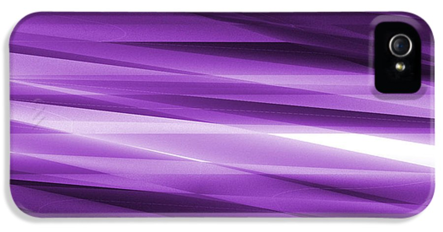 Abstract IPhone 5 Case featuring the glass art Abstract Modern Purple Background by Somkiet Chanumporn